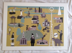 Our south London print from Postcode Prints
