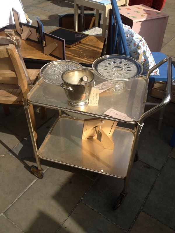 Drinks trolley on sale by Dolly Did It, Herne Hill market