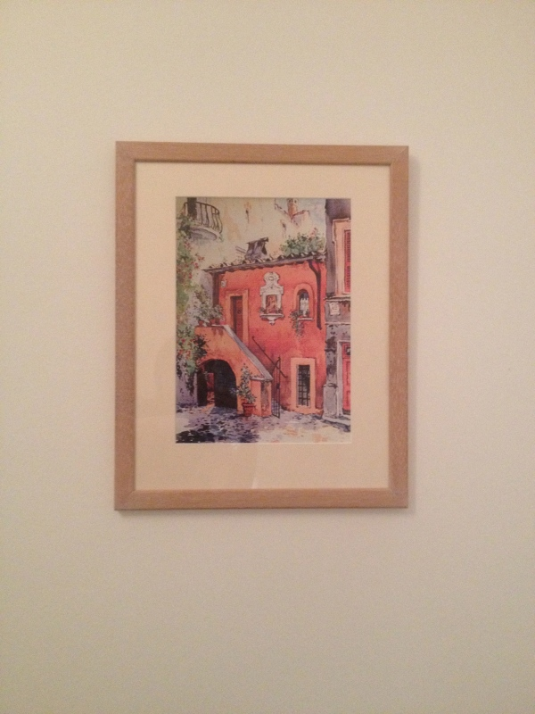 The Italian illustration framed by Noel Studios, Balham