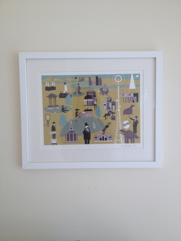 South London print framed by Ian's Artworks