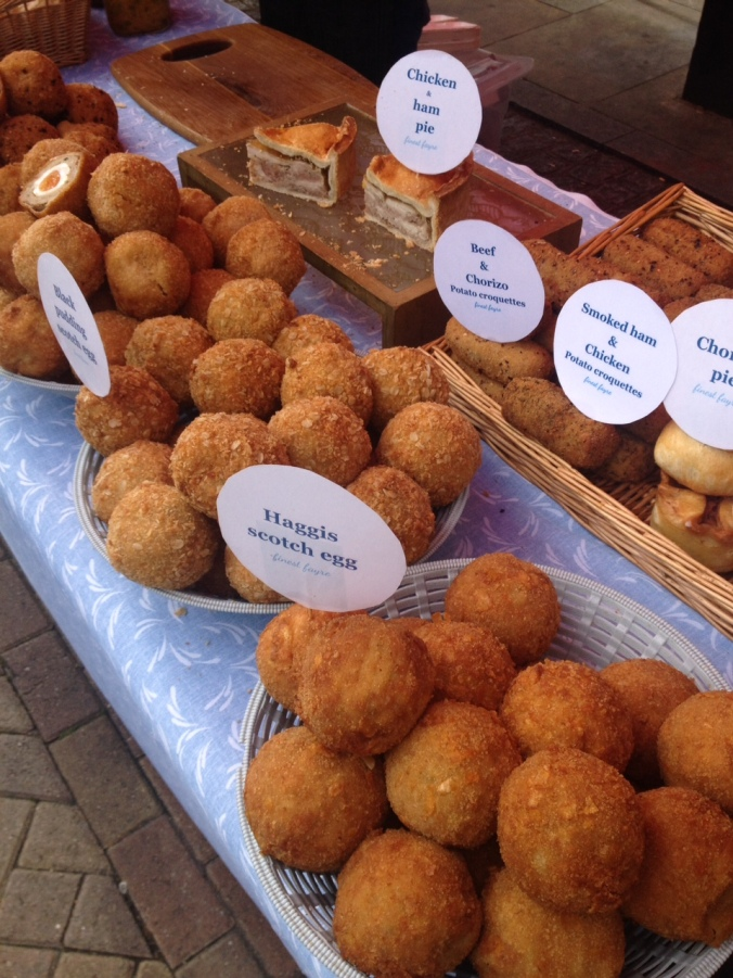 scotch eggs at Herne Hill market