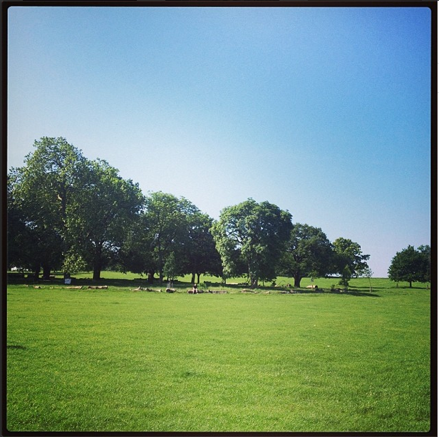 Beautiful Brockwell Park - location of The Lido Cafe