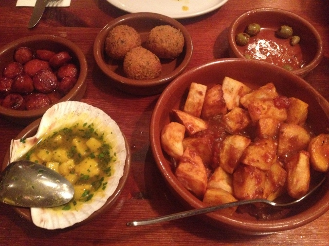 Tapas selection at the lounge bar balham