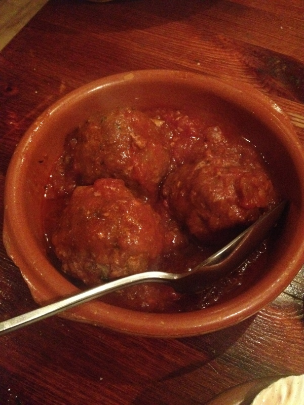 A side of bread to dunk is a must with these meatballs