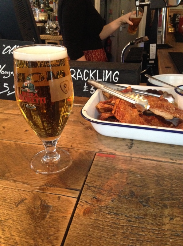 pork crackling bar snack the great north wood west norwood