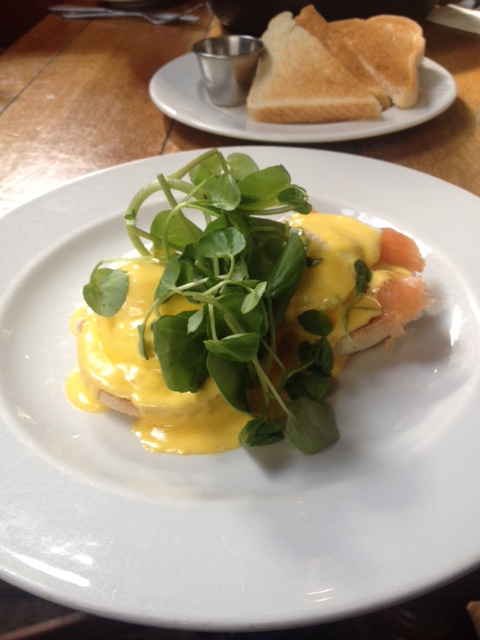 Eggs Royale at The Commercial Herne Hill