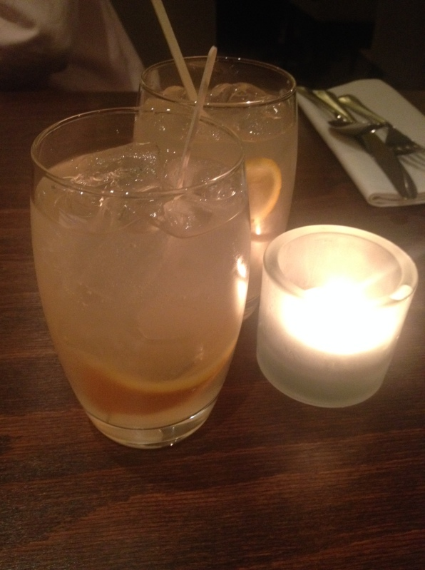 The 'rhubarb collins' cocktail at Lamberts, Balham
