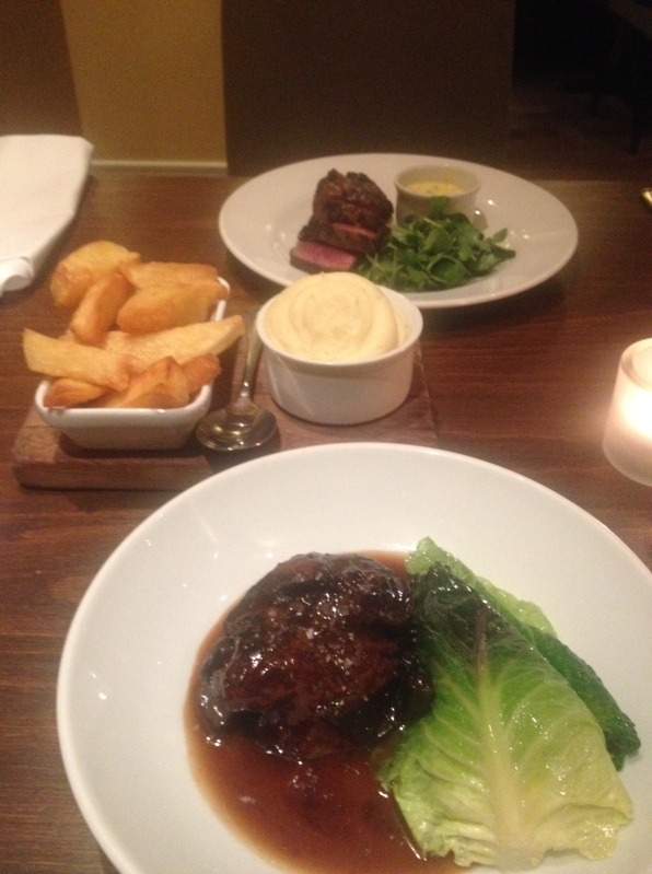 Lamberts Balham seasonal menu, including steak, beef cheeks and greens