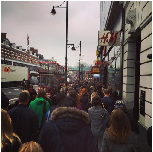 Brixton tube queuing during escalator works