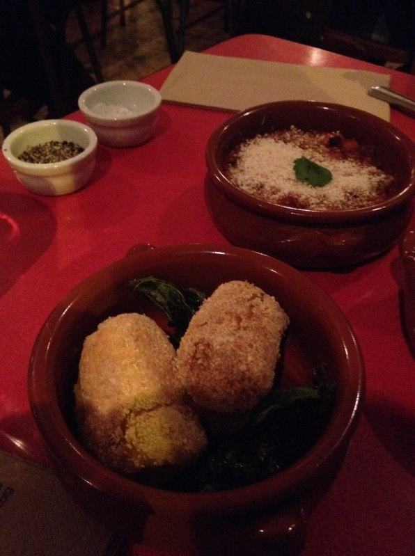 Cassava croquettes and Red Red were among the vegetarian options Zoe's Ghana Kitchen Clapham