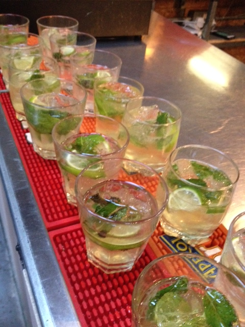 Limoncello mojitos were served on arrival