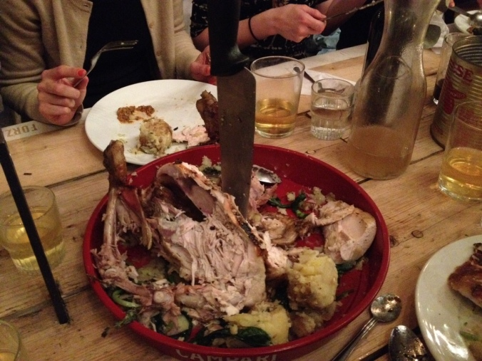 All gone: this chicken had no chance with us