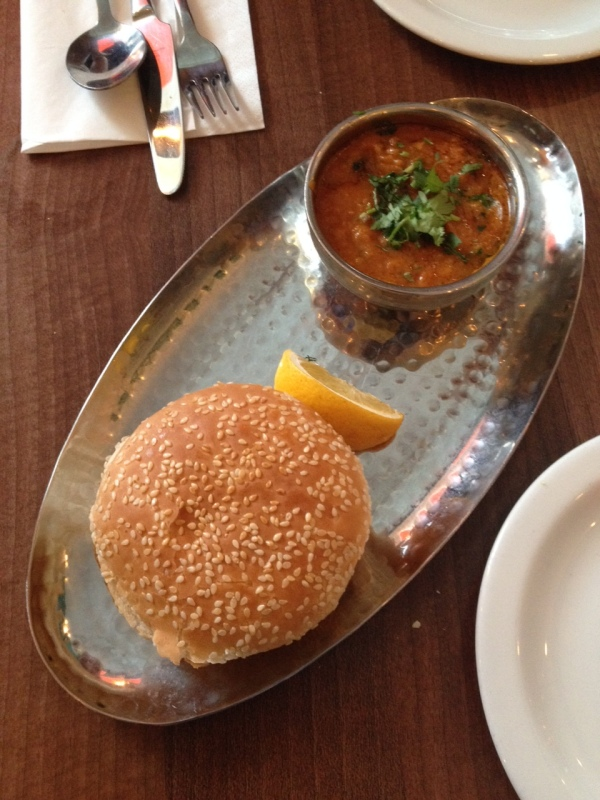 The Pav Bhaji starter at Thali & Pickles