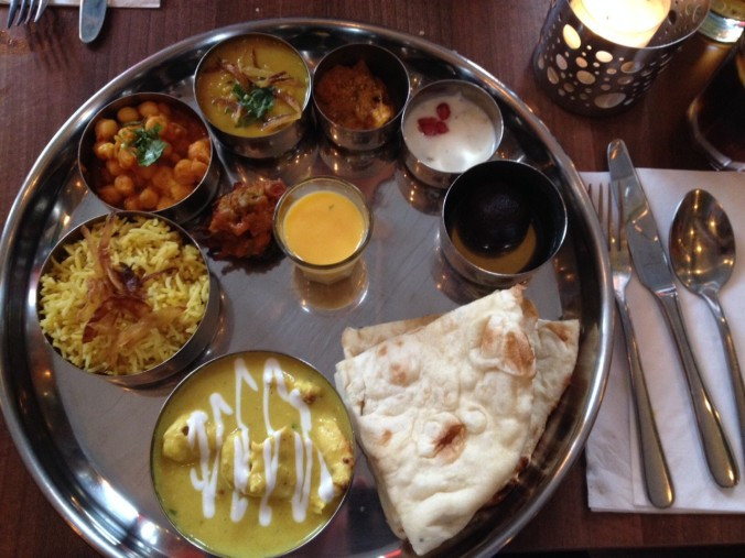 The Maharja Murgh thali (aka chicken korma. sad times)