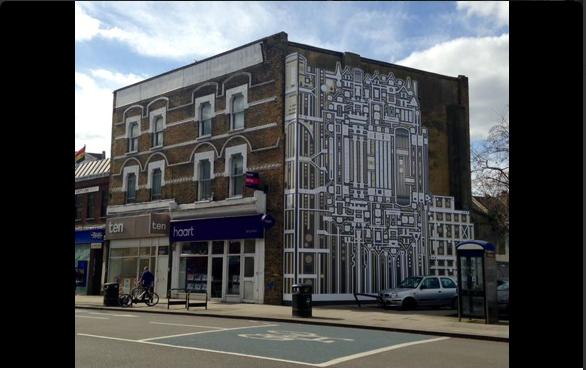 Artwork on Balham High Road